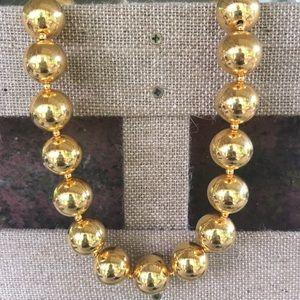 Vintage Premier Design Gold Ball Metal Necklace